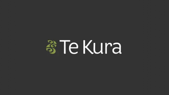Te Kura logo with koru design