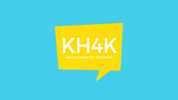 Kapa Haka 4 Kids logo: KH4K Matua Whaitiri Poutawa
