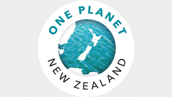 One planet New Zealand, map of New Zealand in waters next to Australia