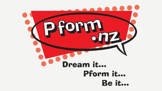 Pform.nz logo: dream it, pform it, be it