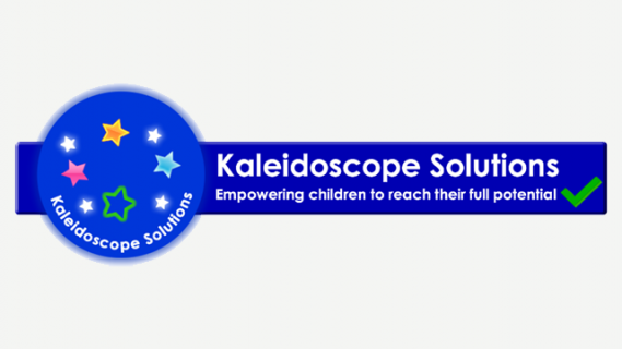 Kaleidoscope Solutions logo in with colourful stars