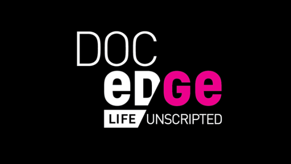 Doc Edge logo in white and pink text on a black background