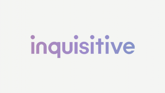 "Logo of ""Inquisitive"" written in purple text"